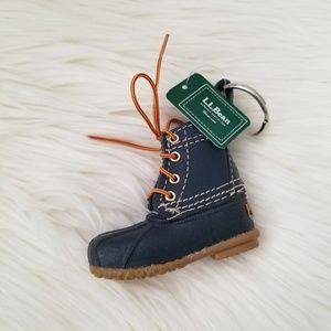 LL Bean Boots Navy Keychain